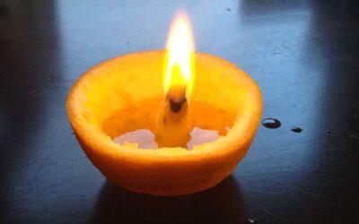 DIY Appelsiinikynttilä